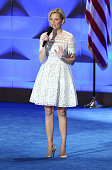 Actress Elizabeth Banks delivers remarks on day two of the 2016 Democratic National Convention at Wells Fargo Center on July 26 2016 in Philadelphia...