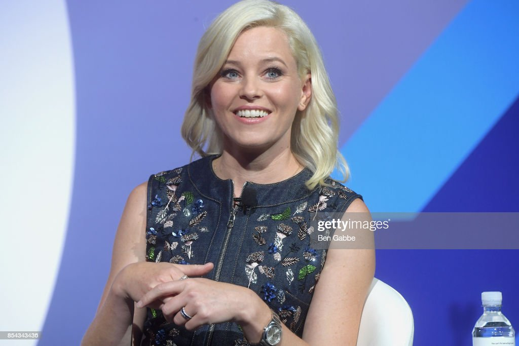Actress Elizabeth Banks speaks during the Advertising Week 2017 Make Them Laugh: How Humor Is Used to Build Brands and Business talk at PlayStation Theater on September 26, 2017 in New York City.
