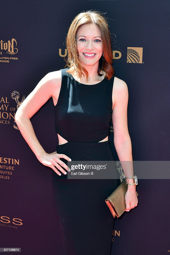 Actress Elizabeth Bogush arrives at the 43rd Annual Daytime Emmy Awards at the Westin Bonaventure Hotel on May 1, 2016 in Los Angeles, California.