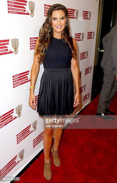 Actress Elizabeth Chambers attends American Friends Of The Israel Philharmonic Orchestra Benefit Honoring Hans Zimmer at Wallis Annenberg Center for...