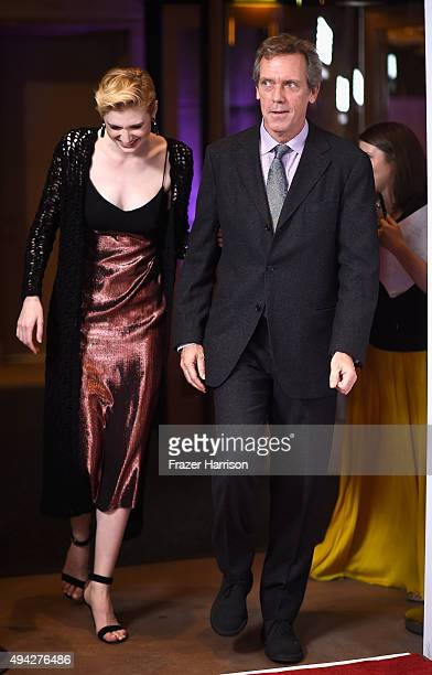 Actress Elizabeth Debicki and actor Hugh Laurie arrive at the 4th Annual Australians In Film Awards Benefit Dinner And Gala at InterContinental Hotel...
