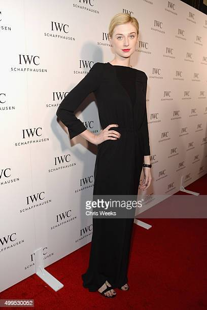 Actress Elizabeth Debicki attends IWC Schaffhausen Rodeo Drive Flagship Boutique Opening on December 1 2015 in Beverly Hills California