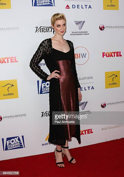 Actress Elizabeth Debicki attends the 4th Annual Australians In Film Awards Benefit Dinner and Gala at The InterContinental Hotel on October 25 2015...