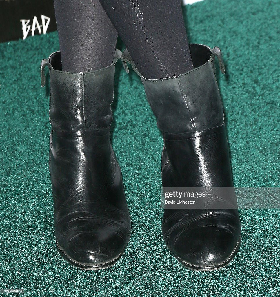 Actress Elizabeth Debicki (shoe detail) attends the 8th Annual 'Oscar Wilde: Honoring The Irish In Film' Pre-Academy Awards Event at Bad Robot on February 21, 2013 in Santa Monica, California.