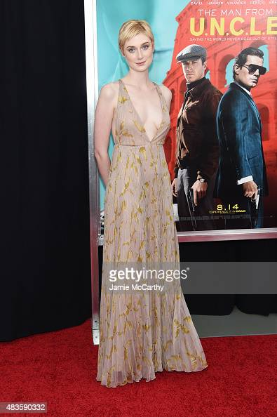 Actress Elizabeth Debicki attends the New York premiere of 'The Man From UNCLE' at Ziegfeld Theater on August 10 2015 in New York City