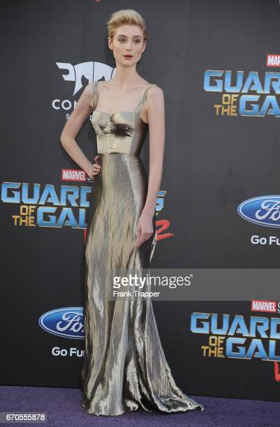 Actress Elizabeth Debicki attends the premiere of Disney and Marvel's 'Guardians Of The Galaxy Vol 2' at the Dolby Theatre on April 19 2017 in...