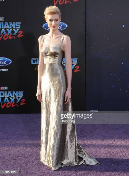 Actress Elizabeth Debicki attends world premiere of Disney and Marvel's' 'Guardians Of The Galaxy 2' at Dolby Theatre on April 19 2017 in Hollywood...