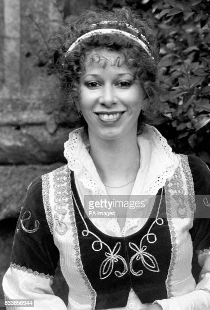 Actress Elizabeth Estensen in Regent's Park during a break in rehearsals for the New Shakespeare Company's production of 'A Midsummer Night's Dream'