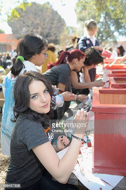 Actress Elizabeth Gillies along with fellow castmembers of Nickelodeon's hit series Victorious in partnership with Nickelodeon's The Big Help and...
