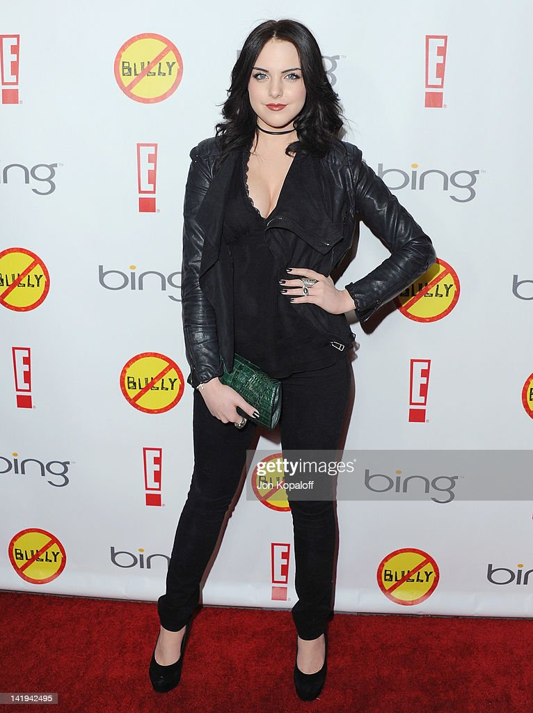 Actress <a gi-track='captionPersonalityLinkClicked' href=/galleries/search?phrase=Elizabeth+Gillies&family=editorial&specificpeople=6839338 ng-click='$event.stopPropagation()'>Elizabeth Gillies</a> arrives at the Los Angeles Premiere 'Bully' at Mann Chinese 6 on March 26, 2012 in Los Angeles, California.