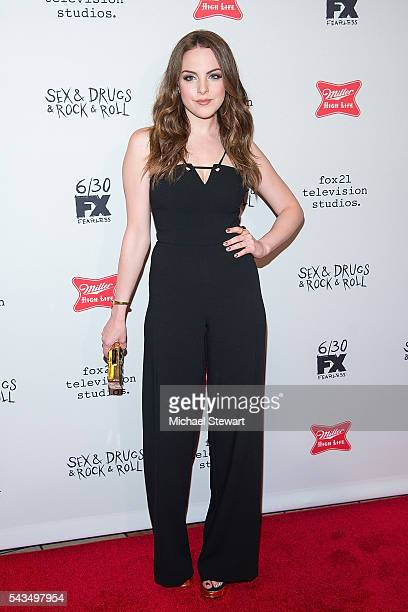 Actress Elizabeth Gillies attends the 'SexDrugsRockRoll' Season 2 premiere at AMC Loews 34th Street 14 theater on June 28 2016 in New York City