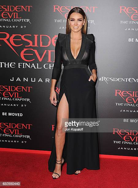 Actress Elizabeth Gutierrez arrives at the Los Angeles premiere 'Resident Evil The Final Chapter' at Regal LA Live A Barco Innovation Center on...