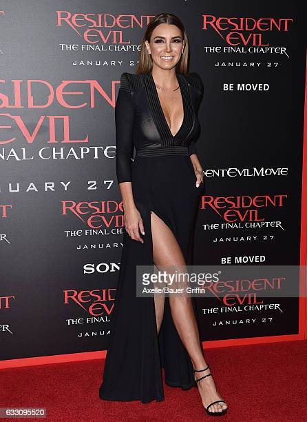 Actress Elizabeth Gutierrez arrives at the premiere of Sony Pictures Releasing's 'Resident Evil The Final Chapter' at Regal LA Live A Barco...