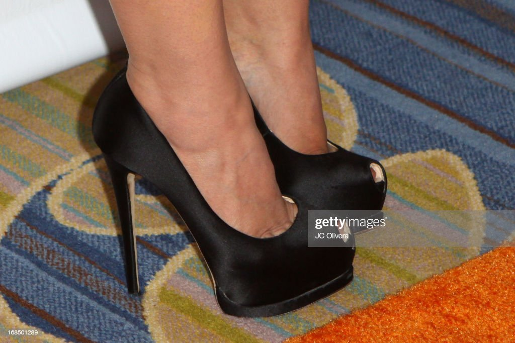 Actress Elizabeth Harnois (shoes detail) attends Lupus LA 13th Annual Orange Ball Gala at Regent Beverly Wilshire Hotel on May 9, 2013 in Beverly Hills, California.
