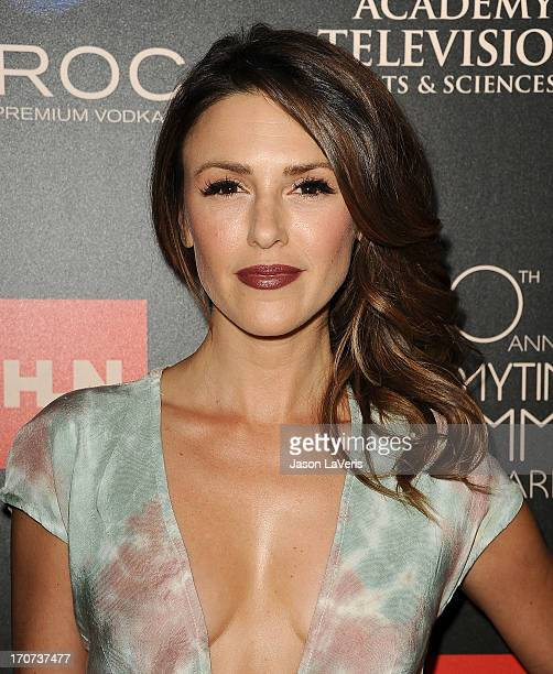 Actress Elizabeth Hendrickson attends the 40th annual Daytime Emmy Awards at The Beverly Hilton Hotel on June 16 2013 in Beverly Hills California
