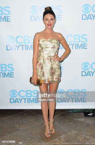 Actress Elizabeth Hendrickson attends the 41st Annual Daytime Emmy Awards CBS after party at The Beverly Hilton Hotel on June 22 2014 in Beverly...