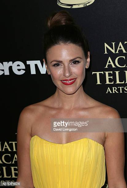 Actress Elizabeth Hendrickson attends the 41st Annual Daytime Emmy Awards at The Beverly Hilton Hotel on June 22 2014 in Beverly Hills California