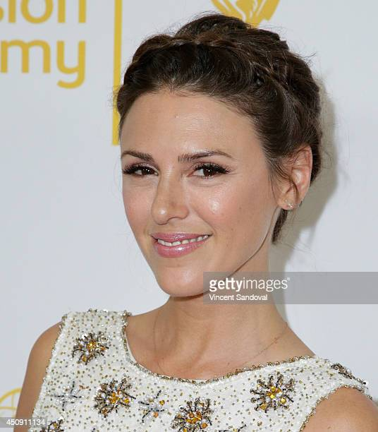 Actress Elizabeth Hendrickson attends the Television Academy Daytime Emmy Nominee reception at The London West Hollywood on June 19 2014 in West...