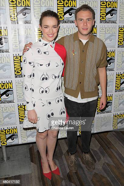 Actress Elizabeth Henstridge and Iain De Caestecker attends the 'Marvel's Agents of SHIELD' press room during day 2 of ComicCon International on July...