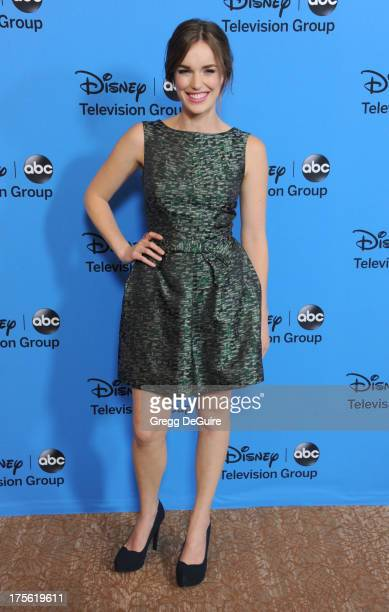 Actress Elizabeth Henstridge arrives at the 2013 Disney/ABC Television Critics Association's summer press tour party at The Beverly Hilton Hotel on...