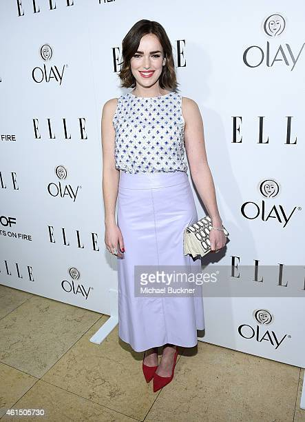 Actress Elizabeth Henstridge attends ELLE's Annual Women in Television Celebration on January 13 2015 at Sunset Tower in West Hollywood California...