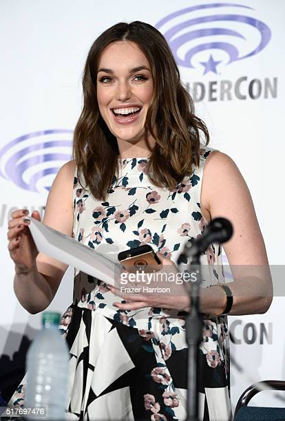 Actress Elizabeth Henstridge attends Marvel's Agents of SHI ELD panel at WonderCon 2016 Day 2 at Los Angeles Convention Center on March 26 2016 in...