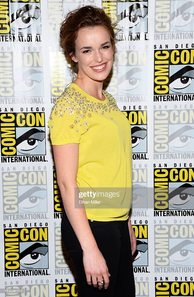 Actress Elizabeth Henstridge attends Marvel's 'Agents of S.H.I.E.L.D.' press line during Comic-Con International 2013 at the Hilton San Diego Bayfront Hotel on July 19, 2013 in San Diego, California.