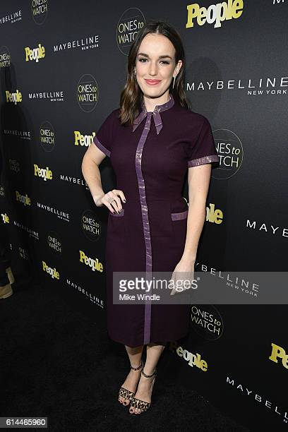 Actress Elizabeth Henstridge attends People's 'Ones to Watch' event presented by Maybelline New York at EP LP on October 13 2016 in Hollywood...