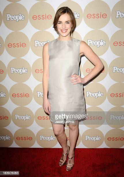 Actress Elizabeth Henstridge attends People's 'Ones To Watch' party at Hinoki the Bird on October 9 2013 in Los Angeles California