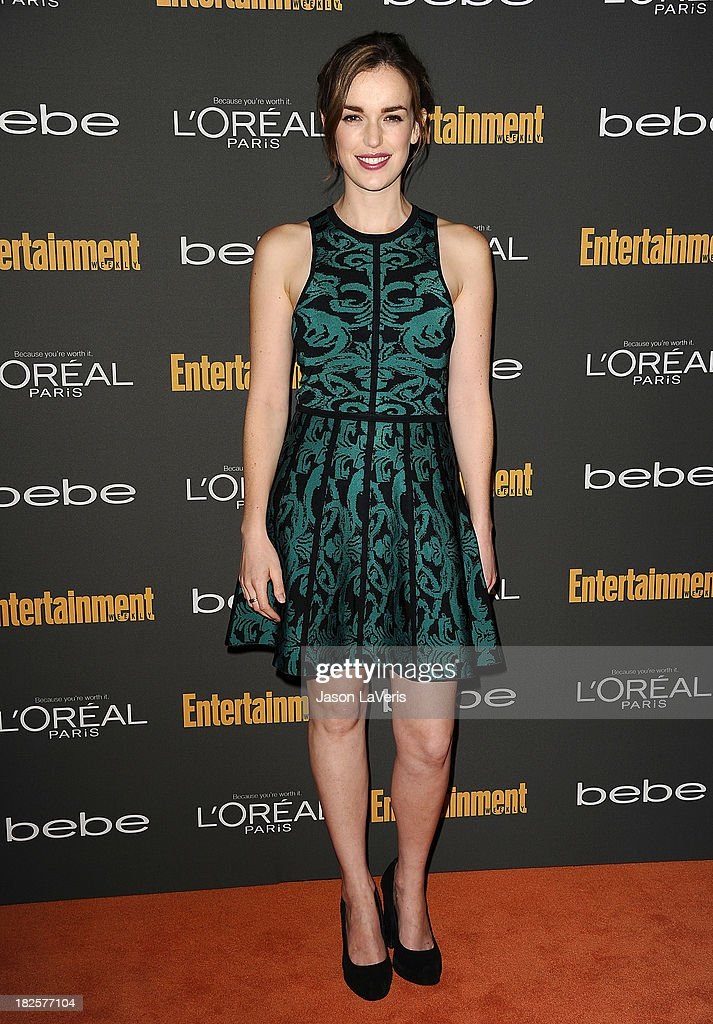 Actress Elizabeth Henstridge attends the Entertainment Weekly pre-Emmy party at Fig & Olive Melrose Place on September 20, 2013 in West Hollywood, California.