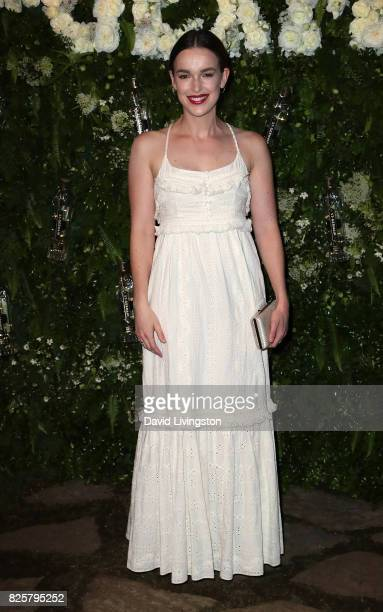 Actress Elizabeth Henstridge attends the Maison StGermain LA debut hosted by Lily Kwong at the Houdini Estate on August 2 2017 in Los Angeles...