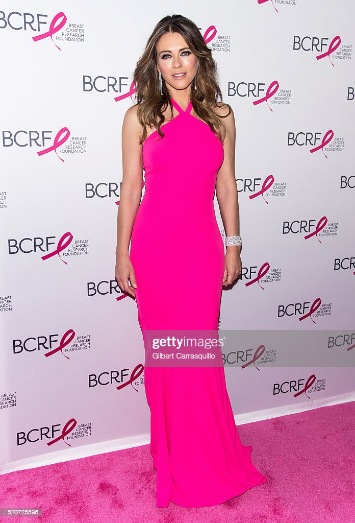 Actress Elizabeth Hurley attends the 2016 Breast Cancer Research Foundation Hot Pink Party at The Waldorf Astoria on April 12 2016 in New York City