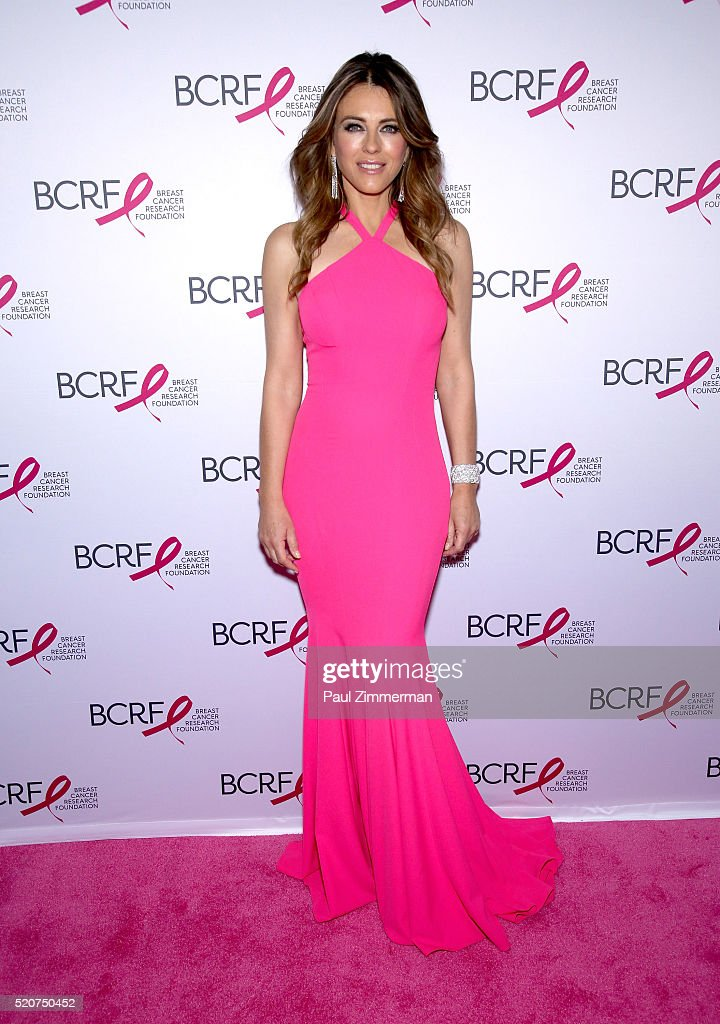 Actress Elizabeth Hurley attends the 2016 Breast Cancer Research Foundation Hot Pink Party at The Waldorf=Astoria on April 12 2016 in New York City