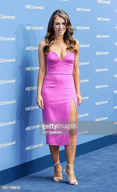Actress Elizabeth Hurley attends the 2016 NBCUNIVERSAL Upfront at Radio City Music Hall on May 16 2016 in New York City