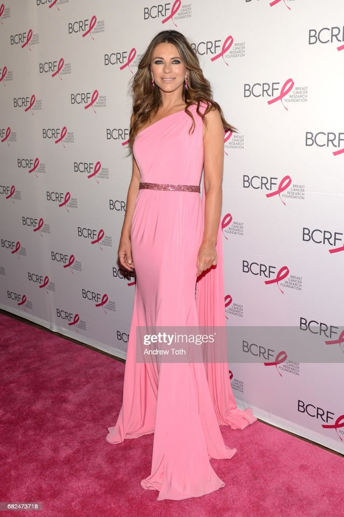 Actress Elizabeth Hurley attends the 2017 Breast Cancer Research Foundation Hot Pink Party at Park Avenue Armory on May 12, 2017 in New York City.