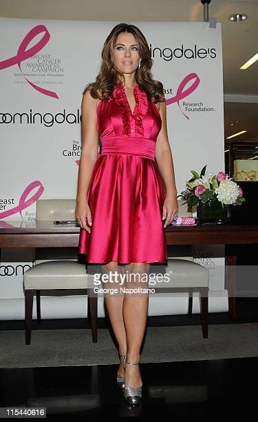 Actress Elizabeth Hurley attends the 59th Street Shines Pink event at Bloomingdale's 59th Street on October 2 2008 in New York City