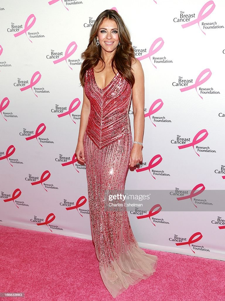 Actress Elizabeth Hurley attends The Breast Cancer Research Foundation's 2013 Hot Pink Party at The Waldorf=Astoria on April 17, 2013 in New York City.