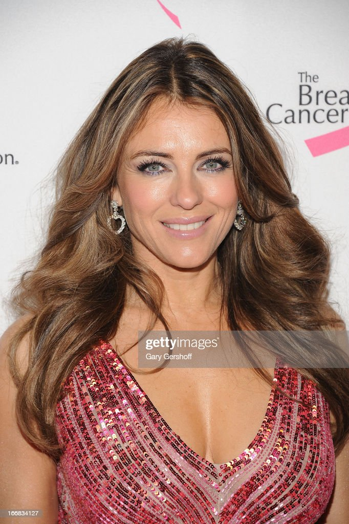 Actress <a gi-track='captionPersonalityLinkClicked' href=/galleries/search?phrase=Elizabeth+Hurley&family=editorial&specificpeople=201731 ng-click='$event.stopPropagation()'>Elizabeth Hurley</a> attends The Breast Cancer Research Foundation's 2013 Hot Pink Party at The Waldorf=Astoria on April 17, 2013 in New York City.
