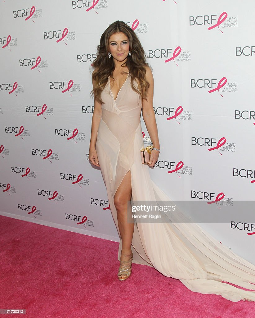 Actress Elizabeth Hurley attends The Breast Cancer Research Foundation 2015 Pink Carpet Party at The Waldorf=Astoria on April 30 2015 in New York City