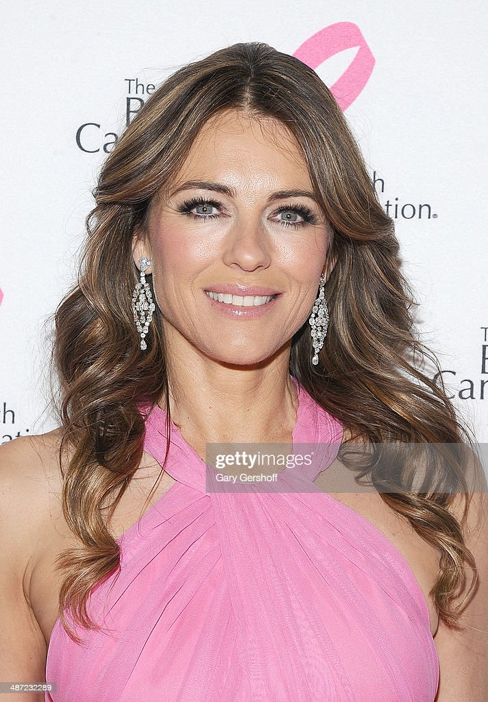 Actress <a gi-track='captionPersonalityLinkClicked' href=/galleries/search?phrase=Elizabeth+Hurley&family=editorial&specificpeople=201731 ng-click='$event.stopPropagation()'>Elizabeth Hurley</a> attends The Breast Cancer Research Foundation 204 Hot Pink Party at The Waldorf=Astoria on April 28, 2014 in New York City.