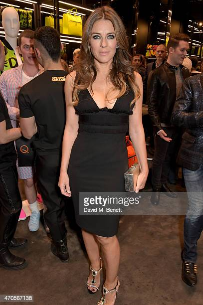 Actress Elizabeth Hurley attends the DSQUARED2 celebration of London Flagship Opening on April 21 2015 in London England