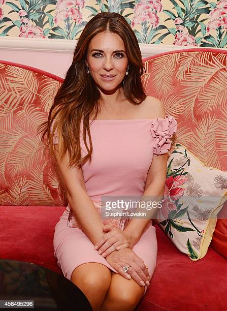 Actress Elizabeth Hurley attends the 'Hear Our Stories screening after party hosted by the Estee Lauder Companies Breast Cancer Awareness Campaign...