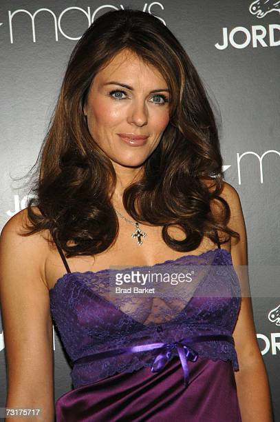 Actress Elizabeth Hurley attends the launch of the Jordache Spring/Summer 2007 collection at Macy's Herlard Square on February 1 2007 in New York City
