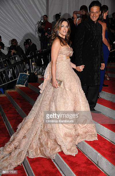 Actress Elizabeth Hurley attends 'The Model as Muse Embodying Fashion' Costume Institute Gala at The Metropolitan Museum of Art on May 4 2009 in New...