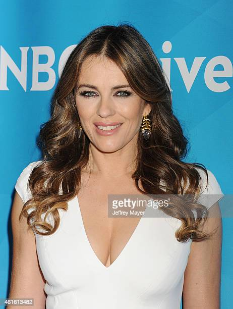 Actress Elizabeth Hurley attends the NBCUniversal 2015 Press Tour at the Langham Huntington Hotel on January 15 2015 in Pasadena California