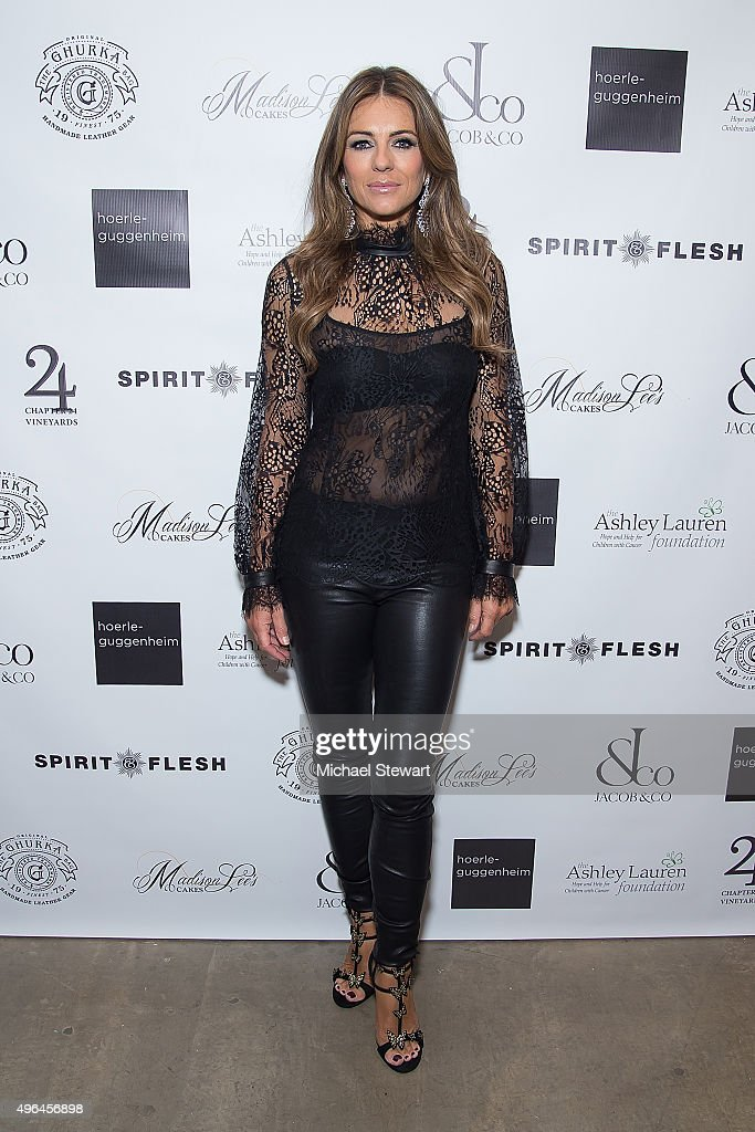 Actress <a gi-track='captionPersonalityLinkClicked' href=/galleries/search?phrase=Elizabeth+Hurley&family=editorial&specificpeople=201731 ng-click='$event.stopPropagation()'>Elizabeth Hurley</a> attends the 'The Royals' series season two premiere celebration at Hoerle Guggenheim Gallery on November 9, 2015 in New York City.