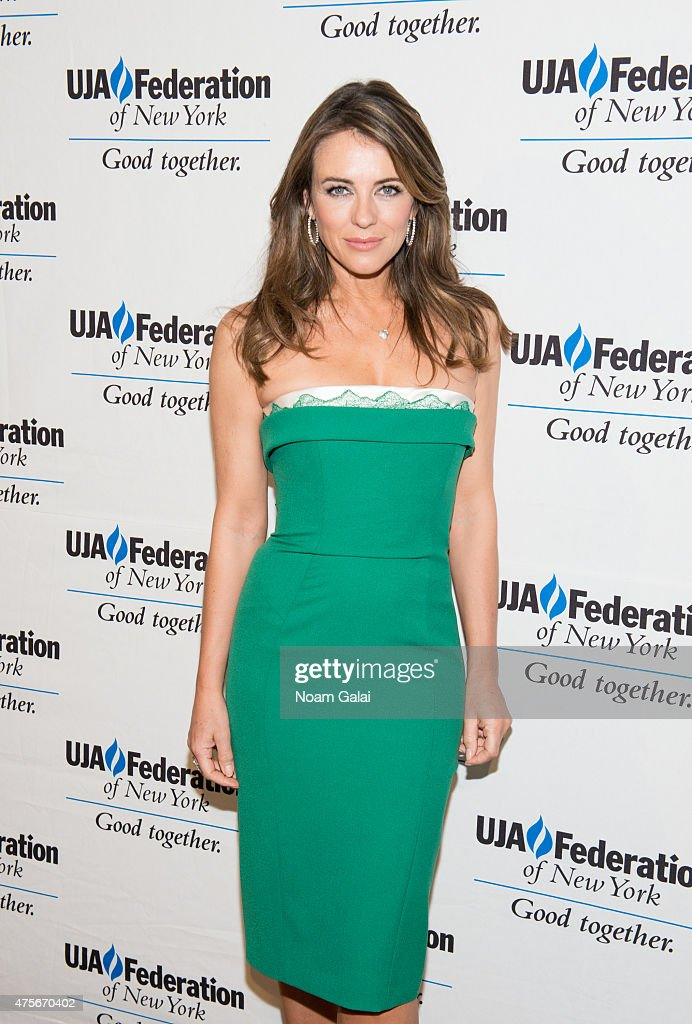 Actress <a gi-track='captionPersonalityLinkClicked' href=/galleries/search?phrase=Elizabeth+Hurley&family=editorial&specificpeople=201731 ng-click='$event.stopPropagation()'>Elizabeth Hurley</a> attends the UJA-Federation New York's Entertainment Division Signature Gala at 583 Park Avenue on June 2, 2015 in New York City.