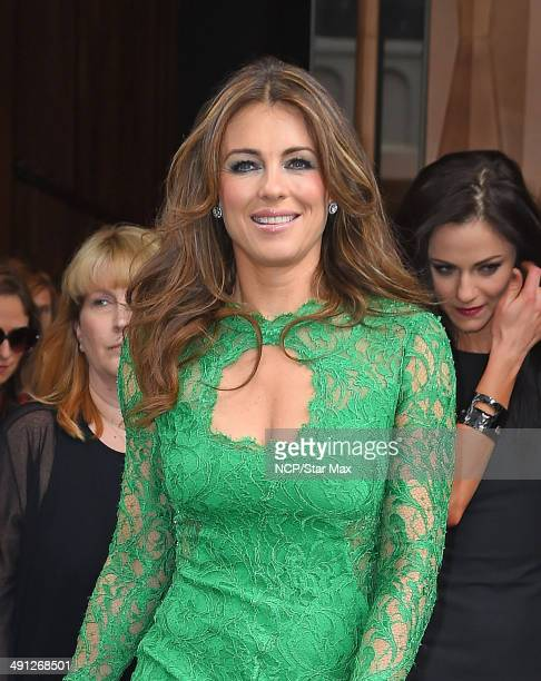 Actress Elizabeth Hurley is seen on May 15 2014 in New York City