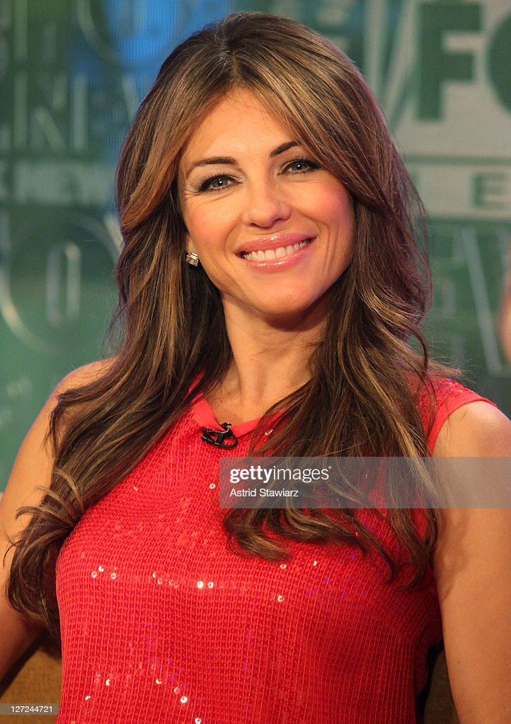 Actress Elizabeth Hurley visits 'FOX & Friends'at FOX Studios on September 27, 2011 in New York City.