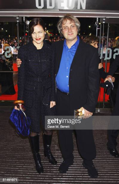 Actress Elizabeth McGovern and husband Simon Curtis arrive at the UK Charity Premiere of 'Finding Neverland' at the Odeon Leicester Square on October...